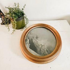 Oval mountain print